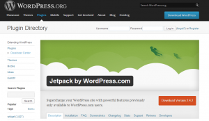 Snip of Jetpack Plugin Site
